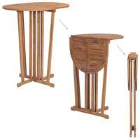 vidaXL Folding Bar Table 100x65x105 cm Solid Teak Wood