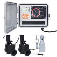 vidaXL Water Irrigation Controller with Rain Sensor & Solenoid Valve