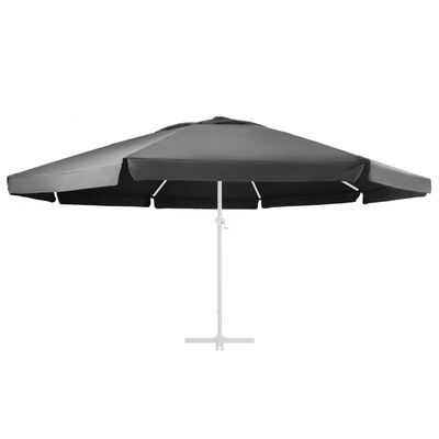 vidaXL Replacement Fabric for Outdoor Parasol Anthracite 600 cm