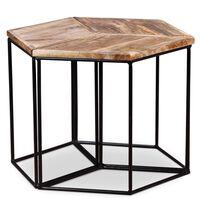 vidaXL Coffee Table Solid Mango Wood 48x48x40 cm