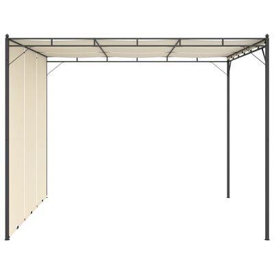vidaXL Garden Gazebo with Side Curtain 3x3x2.25m Cream