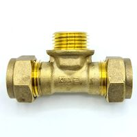 15mm x G1/2 Male x 15mm Tee Adaptor Compression Connector