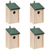 vidaXL Bird Houses 4 pcs Wood 12x12x22 cm