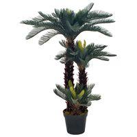 vidaXL Artificial Plant Cycas Palm with Pot Green 125 cm