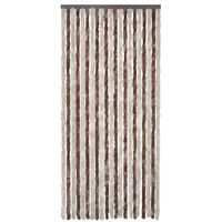 vidaXL Insect Curtain Beige and Light Brown 100x220 cm Chenille