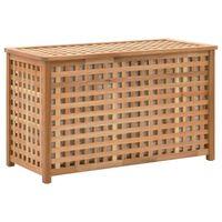 vidaXL Laundry Chest 77.5x37.5x46.5 cm Solid Walnut Wood