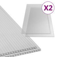 vidaXL Polycarbonate Sheets 2 pcs 6 mm 150x65 cm