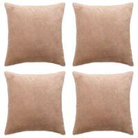 vidaXL Cushion Covers 4 pcs Velour 50x50 cm Beige