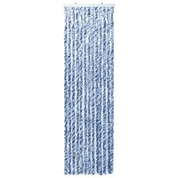 vidaXL Insect Curtain Blue and White 56x200 cm Chenille