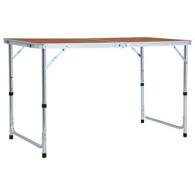 vidaXL Foldable Camping Table Aluminium 120x60 cm