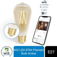 Wiz Led St64 Smart Filament Bulb Amber E27 Tuneable White & Dimmable