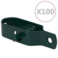 vidaXL Fence Wire Tensioners 100 pcs 100 mm Steel Green