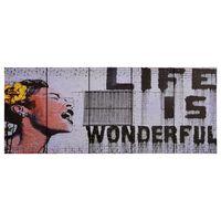 vidaXL Canvas Wall Print Set Wonderful Multicolour 200x80 cm