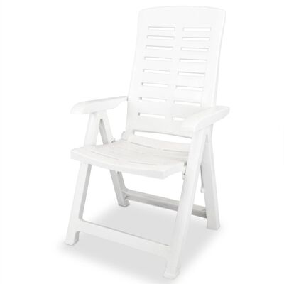 vidaXL 11 Piece Outdoor Dining Set Plastic White