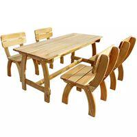 vidaXL 5 Piece Outdoor Dining Set Impregnated Pinewood
