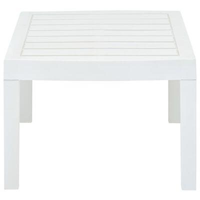vidaXL Lounge Table White 78x55x38 cm Plastic