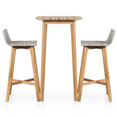vidaXL 5 Piece Outdoor Dining Set Solid Acacia Wood