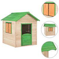 vidaXL Kids Play House Fir Wood Green