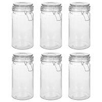 vidaXL Storage Jars with Clip Closure 6 pcs 1000 ml