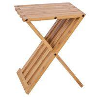 Bo-Camp Folding Side Table Lambeth 28x33x42 cm Bamboo