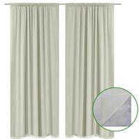 vidaXL Blackout Curtains 2 pcs Double Layer 140x175 cm Cream