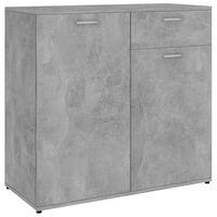 vidaXL Sideboard Concrete Grey 80x36x75 cm Chipboard