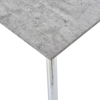 vidaXL Dining Table Concrete and Silver 120x60x74 cm MDF