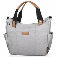"""420946 Baninni Diaper Bag """"Bari"""" Light Grey BNDB009-LGY"""