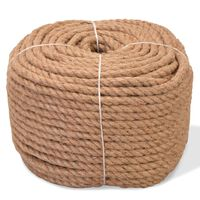 vidaXL Rope 100% Jute 12 mm 100 m