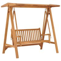 vidaXL Swing Bench 170 cm Solid Teak Wood