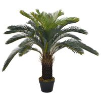 vidaXL Artificial Plant Cycas Palm with Pot Green 90 cm
