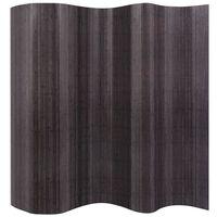 vidaXL Room Divider Bamboo Grey 250x165 cm