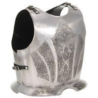 vidaXL Medieval Knight Body Armour Cuirass Replica LARP Silver Steel