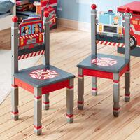 Fantasy Fields Lil Fire Fighters Childrens Kids Wooden 2 Chair Set TD-