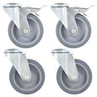 vidaXL Bolt Hole Swivel Casters 4 pcs 100 mm