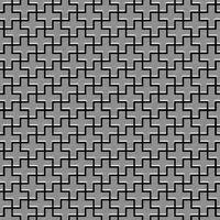 Alloy Swiss Cross-s-s-b Metal Mosaic Stainless Steel Grey