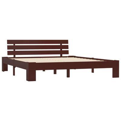 vidaXL Bed Frame Dark Brown Solid Pine Wood 160x200 cm