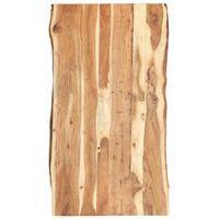 vidaXL Table Top Solid Acacia Wood 120x(50-60)x3.8 cm