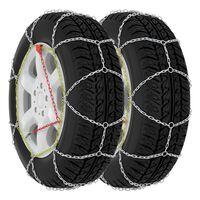 vidaXL Car Tyre Snow Chains 2 pcs 16 mm SUV 4x4 Size 450