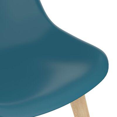 vidaXL 7 Piece Dining Set Turquoise
