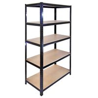 Monster Racking T-Rax Garage Storage Shelves 90cm W, 45cm D Black