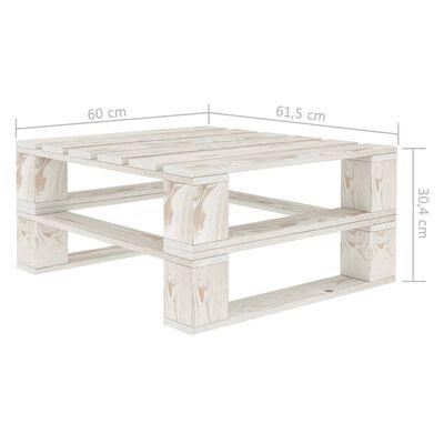 vidaXL Garden Pallet Tables 2 pcs White Wood