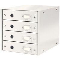 Leitz Drawer Cabinet WOW White 4 Drawers