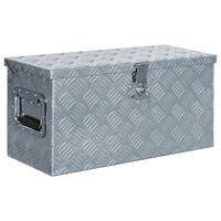 vidaXL Aluminium Box 61.5x26.5x30 cm Silver