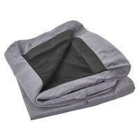 Velvet Armchair Cover Grey Bernes