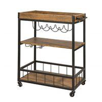 SoBuy Industrial Vintage Wood Metal 3 Tiers Kitchen Trolley FKW56-N