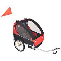 vidaXL Kids' Bicycle Trailer Red and Black 30 kg