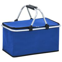 vidaXL Foldable Cool Bag Blue 46x27x23 cm Aluminium