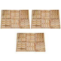 vidaXL 18 pcs Decking Tiles 50x50 cm Wood Brown