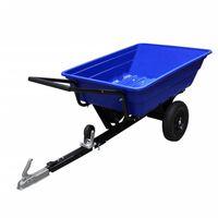 ATV Trailer Garden Tipping Quad Farm Heavy Duty Tractor Dump Cart Pneu